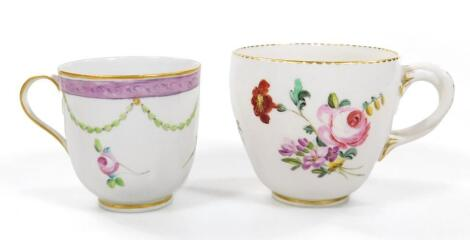 A rare ogee moulded Derby coffee cup