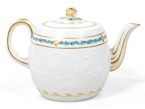 A rare Derby teapot and cover