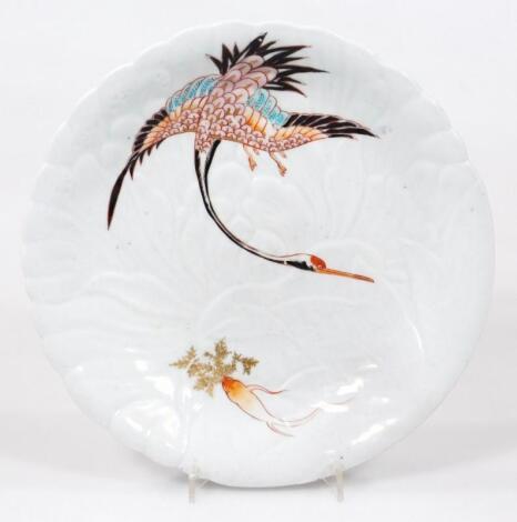 A Japanese Arita saucer dish