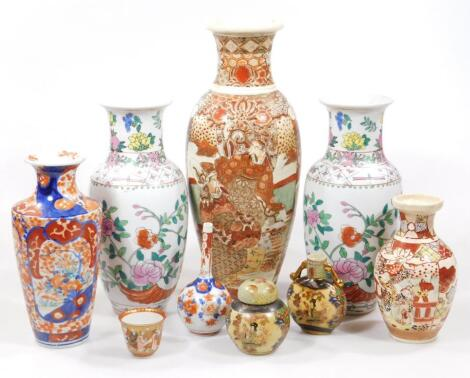 A collection of Chinese and Japanese pottery and porcelain