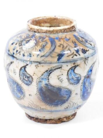 A Chinese Ming style blue and white porcelain vase