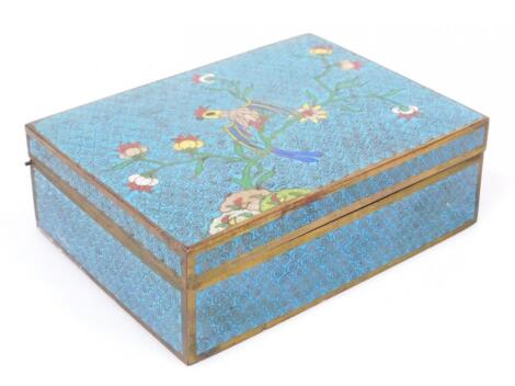 A 19thC Chinese cloisonne box