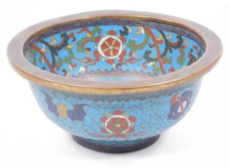 A late 19thC Chinese Qing period cloisonne bowl
