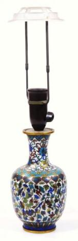 A late 19th/early 20thC cloisonne vase