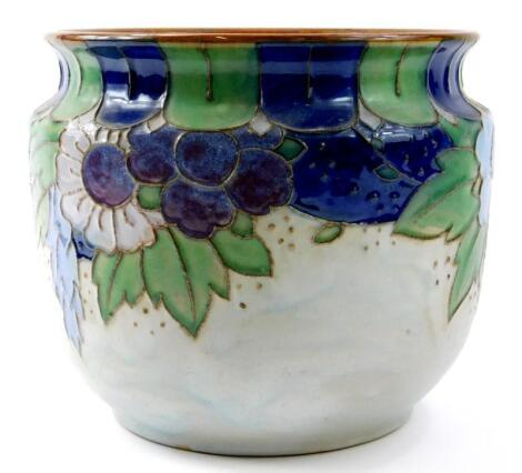 A Royal Doulton stoneware jardiniere