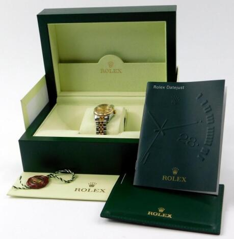 A ladies Rolex Oyster perpetual datejust chronometer wristwatch