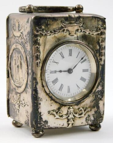 An Edwardian carriage timepiece