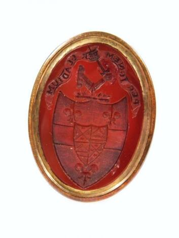 An early 19thC carnelian seal