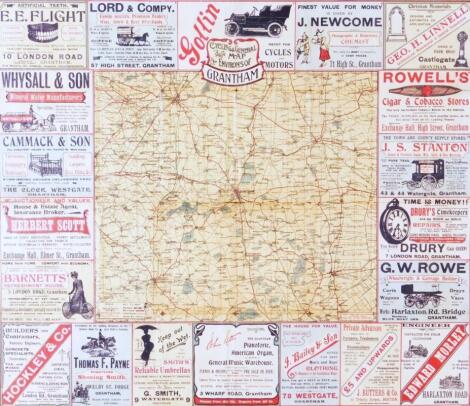 Grantham Interest. A Roberts & Co Cycling & General Map To The Environs Of Grantham