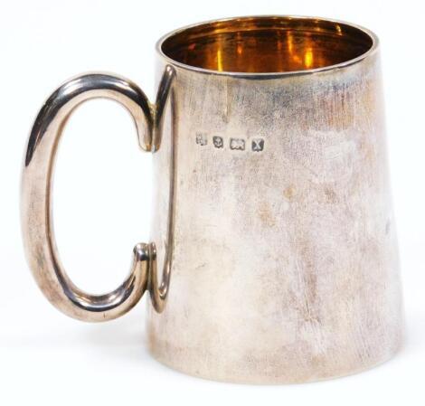 A George V silver and silver gilt christening mug