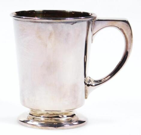 A George V silver and silver gilt christening cup