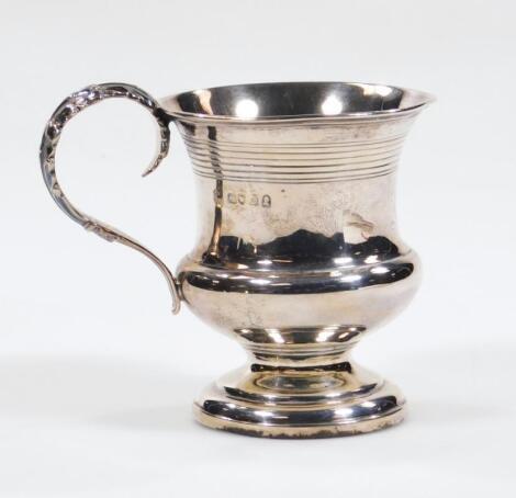 A George IV silver christening mug