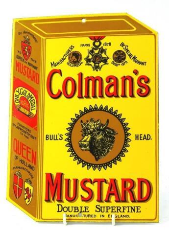 A Colman's Mustard advertising enamel sign