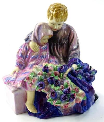 A Royal Doulton large sized figure The Flower Sellers Children