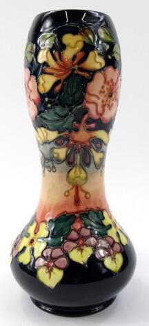 A Moorcroft pottery Oberon pattern vase