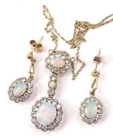 Opal and diamond style jewellery