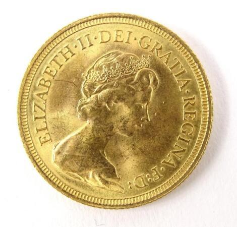 A Queen Elizabeth II full gold sovereign