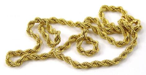 A 9ct gold rope twist necklace
