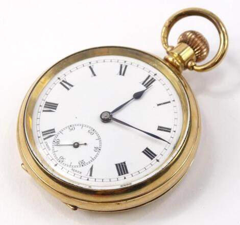 A gold plated pocket watch