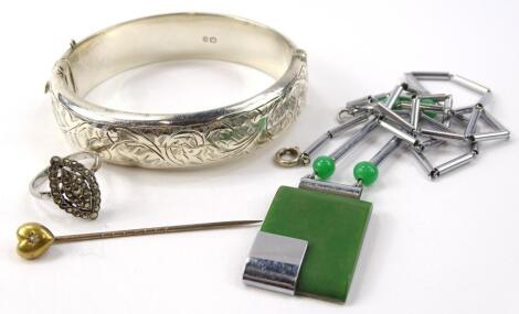 Various silver and other costume jewellery