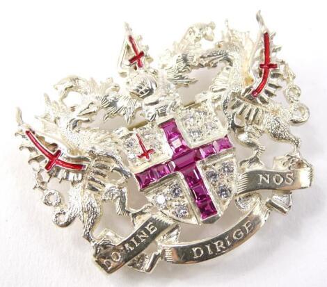 A City of London silver brooch
