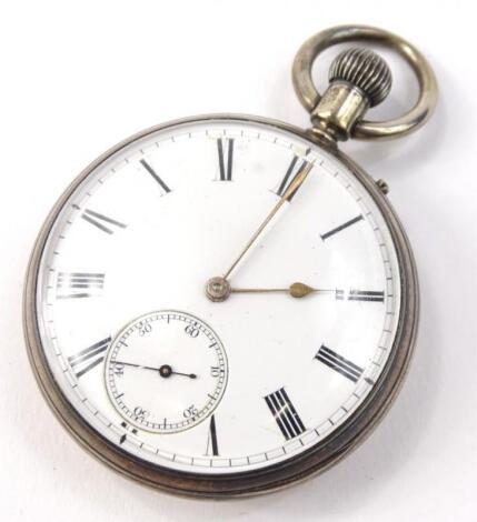 A Victorian silver pocket watch
