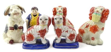 Various Staffordshire style figures