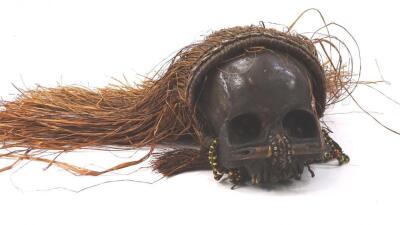 A West African type voodoo skull