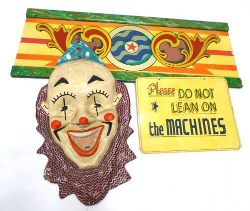 A fairground papier mache clown