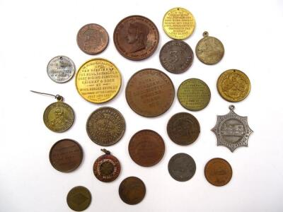 A large quantity of 19thC and later railway related medals and medallions - 2
