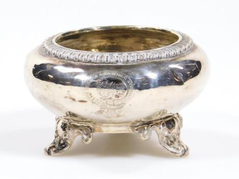 A Victorian silver open salt