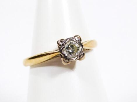 A 18ct gold and diamond ring