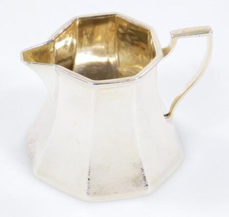 A George V silver cream jug