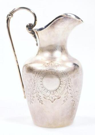 A Victorian silver ewer