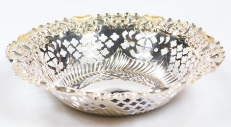 A Victorian silver dish