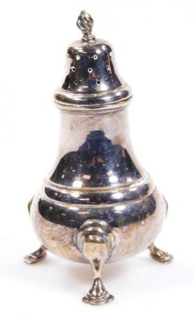 An Elizabeth II silver pepper pot