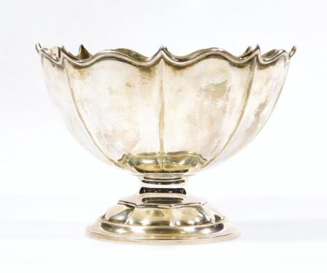 A George V silver footed bowl