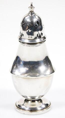 A George VI silver caster