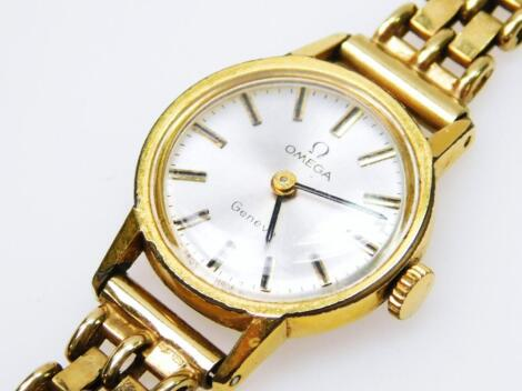A ladies 9ct gold Omega cocktail watch