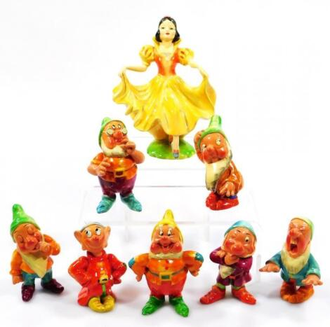 A Wade first series circa 1938 Snow White & the Seven Dwarfs set