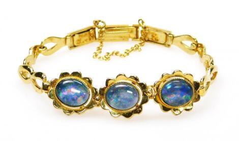 An opal style bracelet