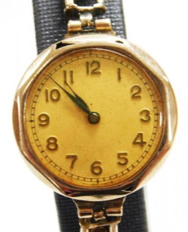 An early 20thC ladies cocktail watch