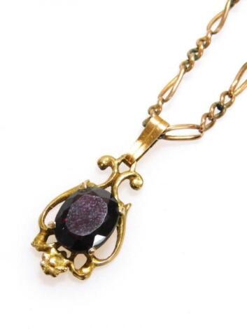 A early 20thC drop pendant