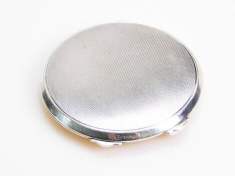 A George VI silver powder compact