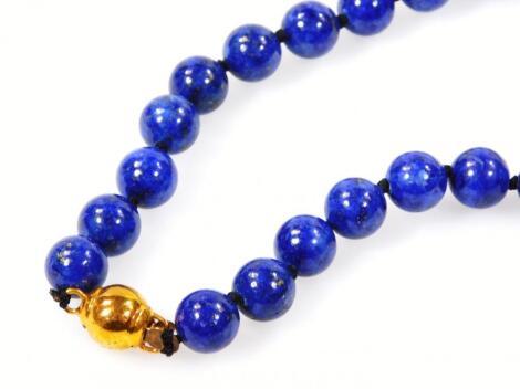 A lapis lazuli necklace
