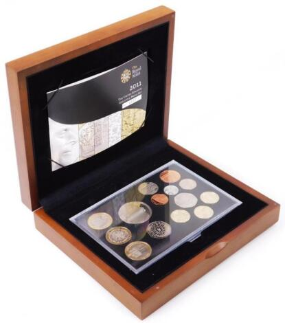 A Royal Mint 2011 Executive Proof coin set