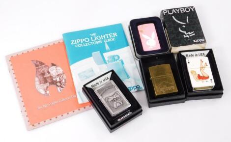 Various Zippo cigarette lighters