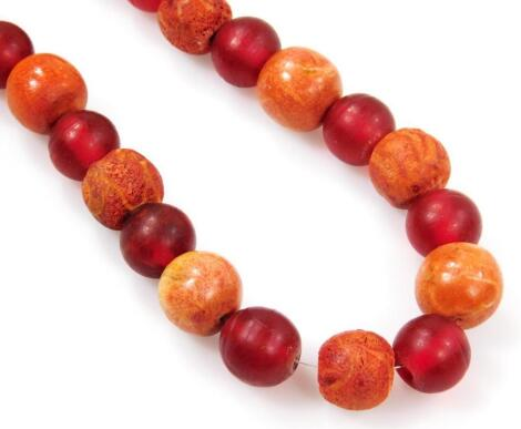 A molten lava and beaded necklace