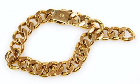A chunky curb link bracelet