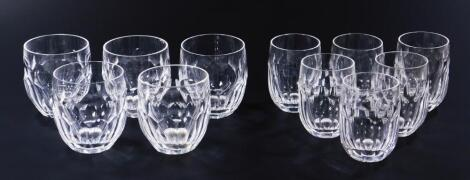 Eleven various two sized Waterford crystal tumblers